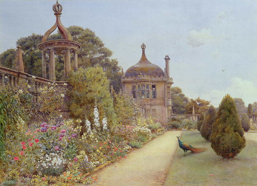 Walled Painting - The Gardens At Montacute In Somerset by Ernest Arthur Rowe