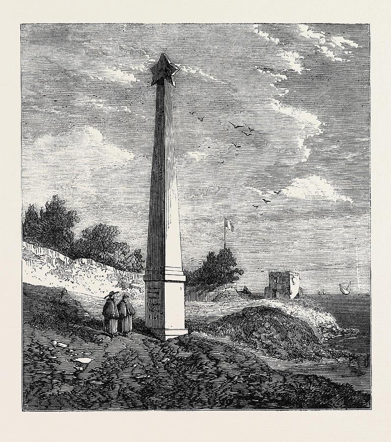 Garibaldi Drawing - The Garibaldi Monument At Quarto Near Geno 1866 by English School