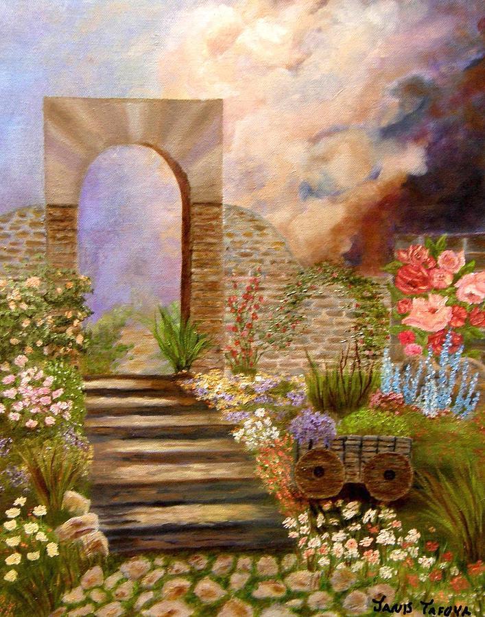 Jansi_tafoya Painting - The Gate by Janis  Tafoya