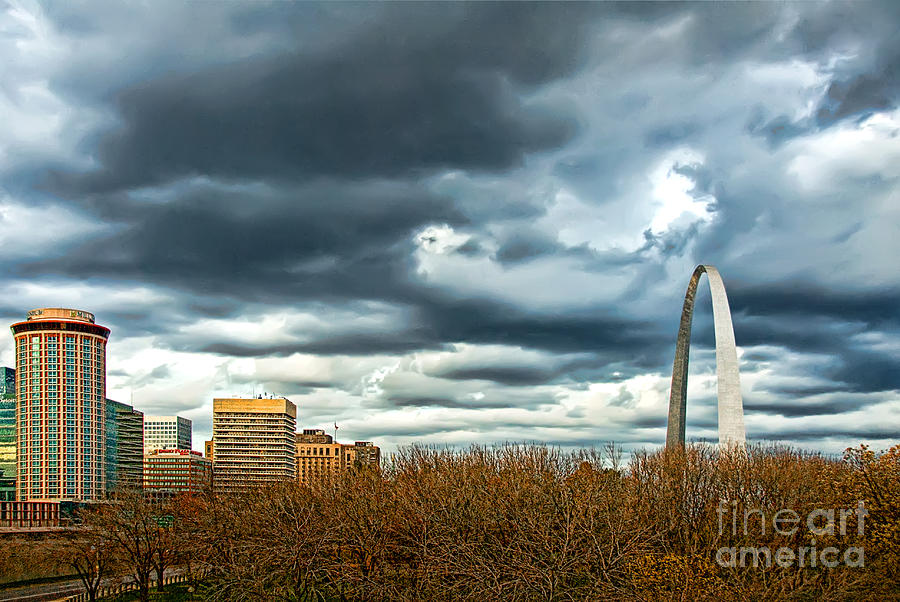 Gateway Arch Photograph - The Gateway Arch Downtown St. Louis by Cindy Tiefenbrunn