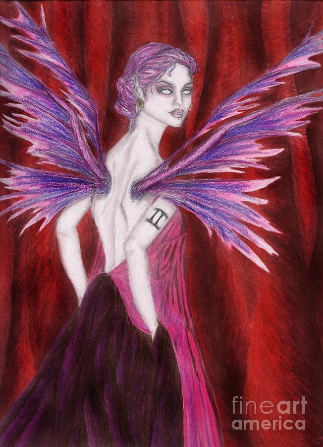 Gemini Drawing - The Geminii Faery by Coriander  Shea