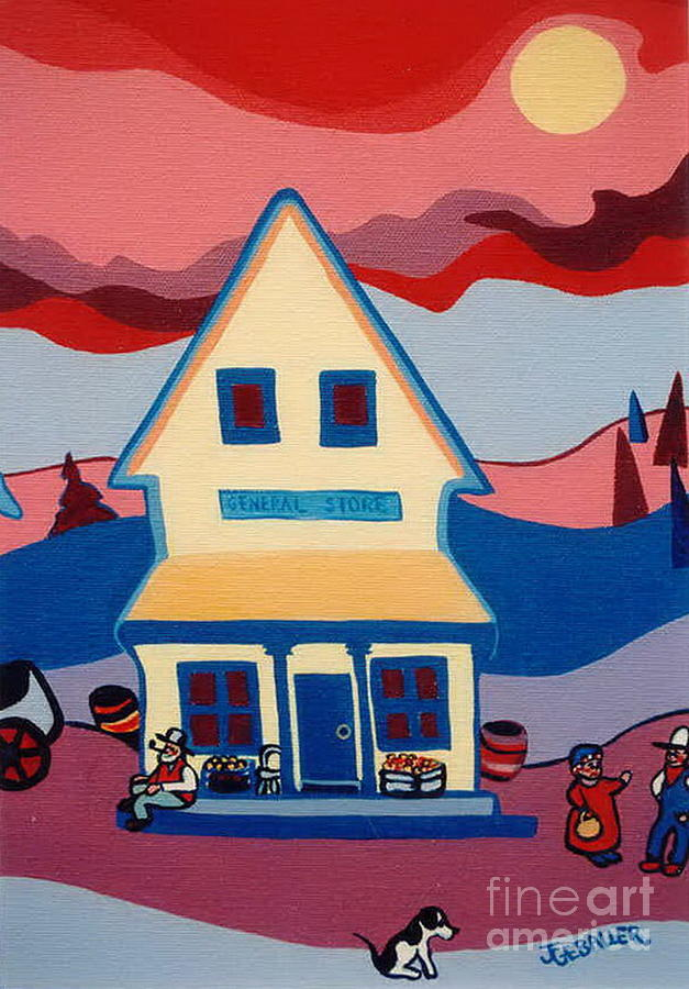 Store Painting - The General Store by Joyce Gebauer