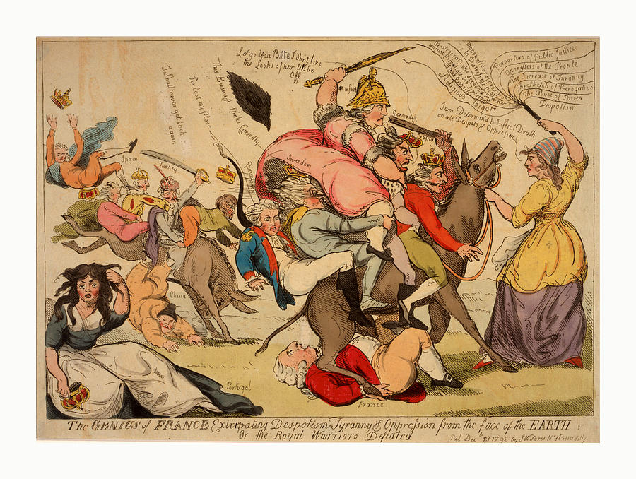 Genius Drawing - The Genius Of France Extirpating Despotism Tyranny by Litz Collection
