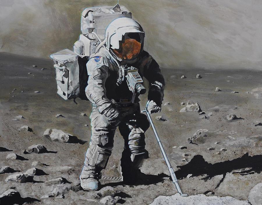 The Geologist- Harrison Schmitt. Apollo 17 Painting by Simon Kregar