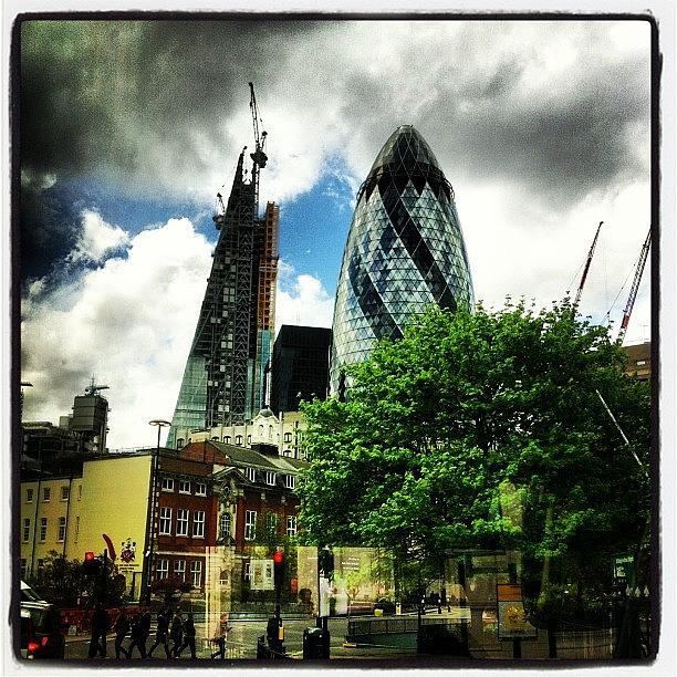 Building Photograph - The Gherkin. #london #skyline by Richard Randall