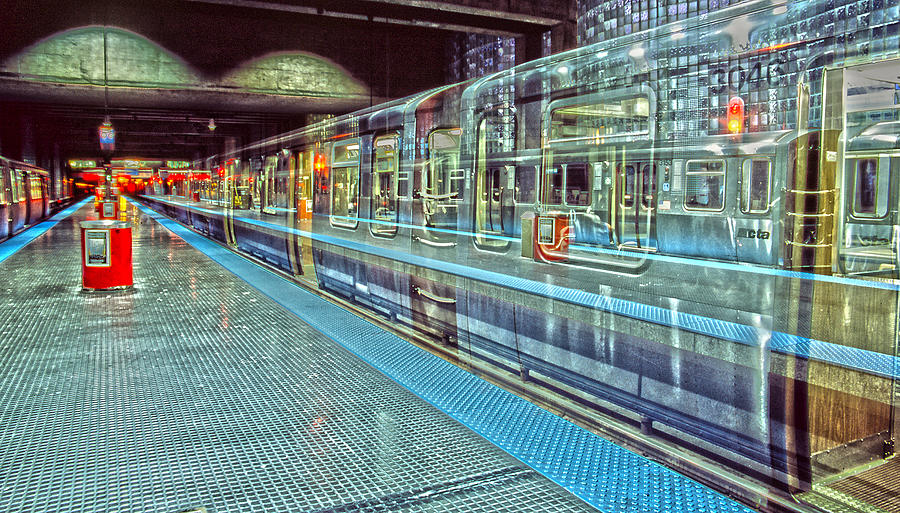 Trains Photograph - The Ghost L by Harry B Brown