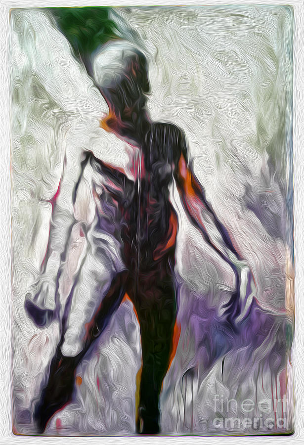 Angel Painting - The Ghost Of Lucian Freud by Gregory Dyer