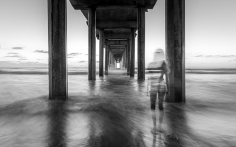 Beach Photograph - The Ghost Watcher by Adam Gaeth