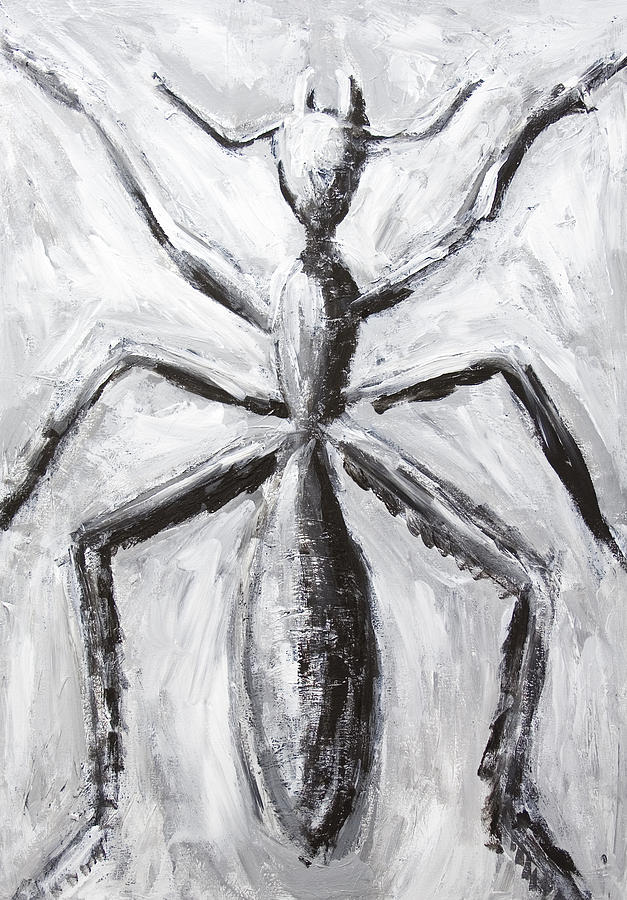 Black And White Painting - The Giant Cave Ant by Kazuya Akimoto