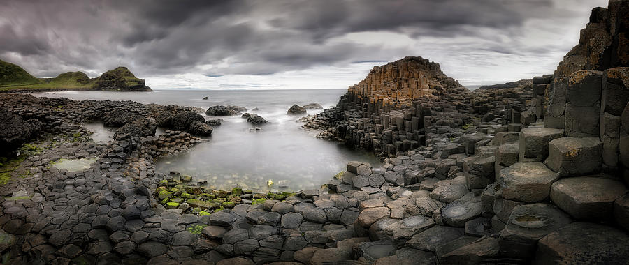 Giants Photograph - The Giants Causeway by Yolanda Romero Angueira