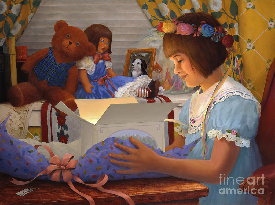 Gift Painting - The Gift by Charles Fennen