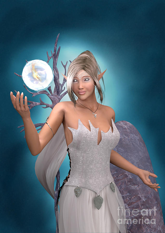 Elf Digital Art - The Gift by Elle Arden Walby