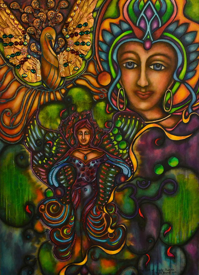 Phoenix Painting - The Gift Of Lady Phoenix by Marie Howell Gallery