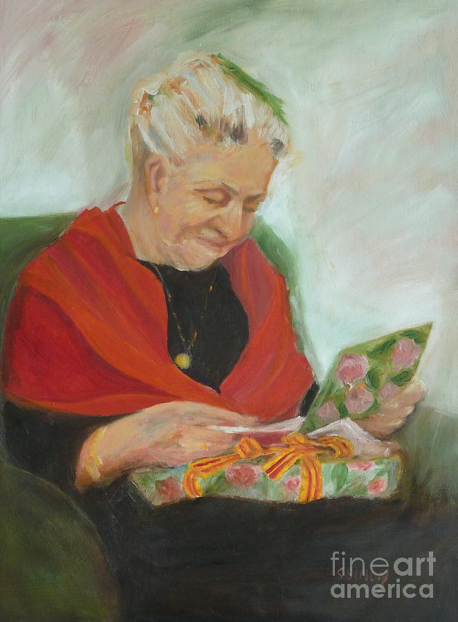 Portrait Painting - The Gift by Sally Simon
