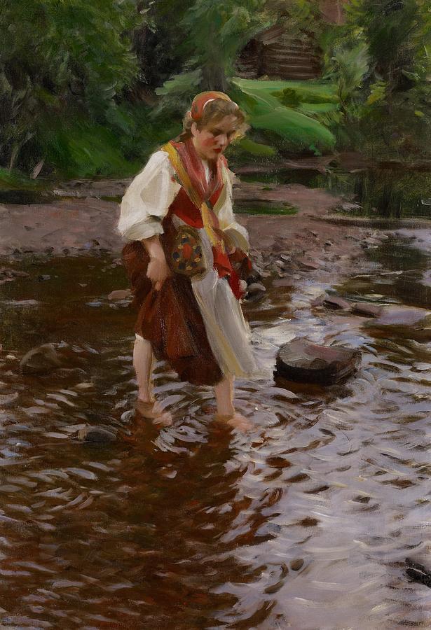 Girl Painting - The Girl From Alvdalen by Anders Leonard Zorn