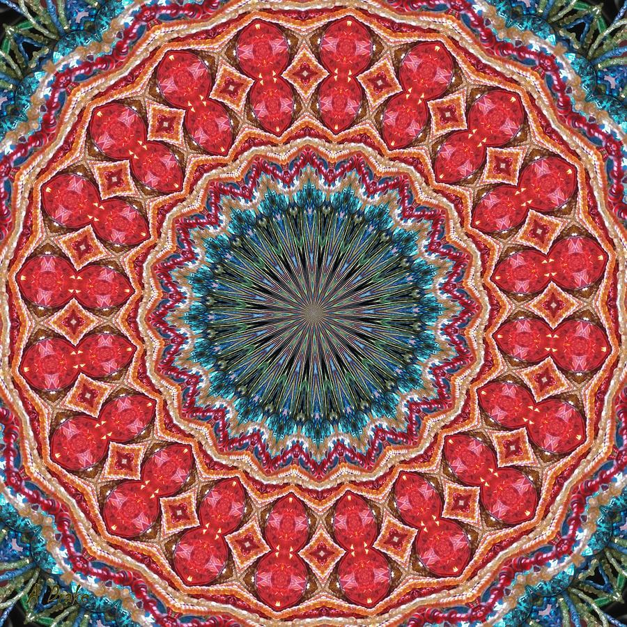 Kaleidoscopes Digital Art - The Girl With Kaliedoscope Eyes by Alec Drake