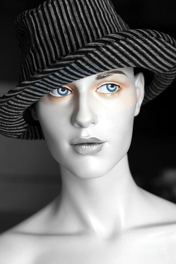 Face Photograph - The Girl With The Fedora Hat by Sophie Vigneault