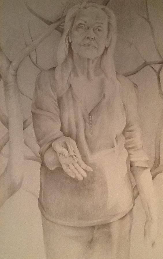 The Giver Series Mama Drawing by Julie Orsini Shakher