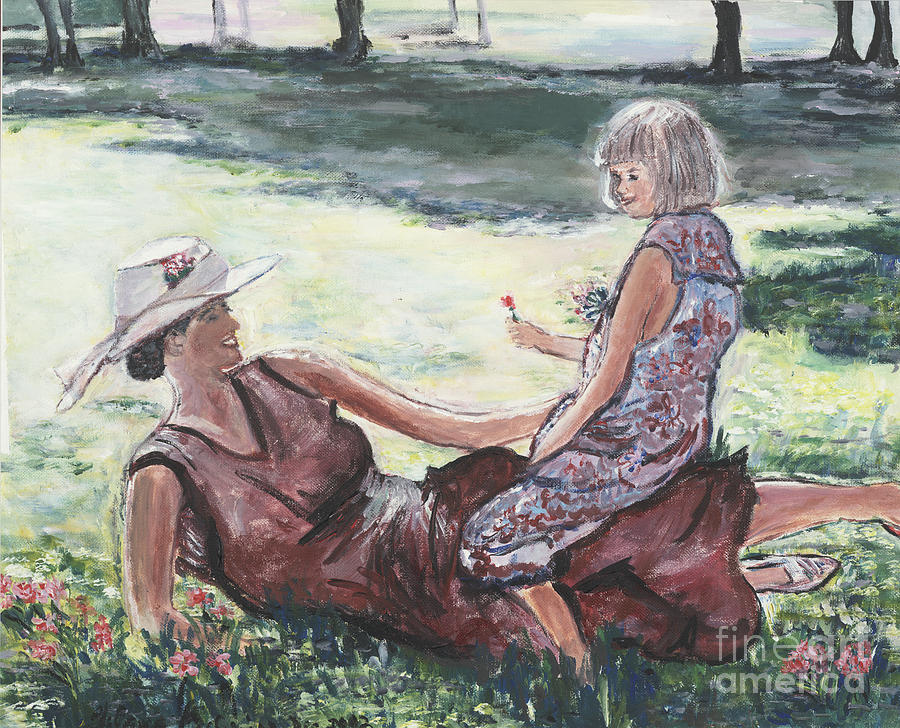 Impressionistic Painting - The Giving by Helena Bebirian