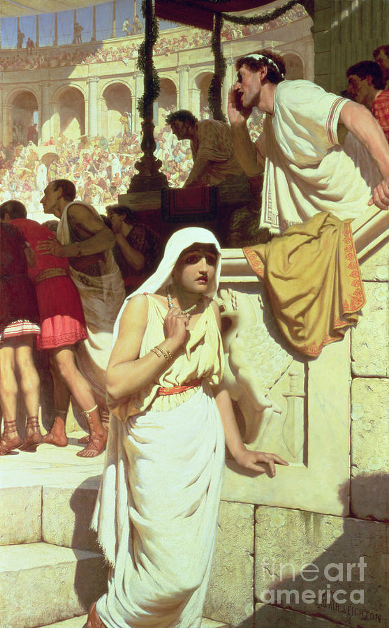 The Gladiator's Wife Painting - The Gladiators Wife by Edmund Blair Leighton