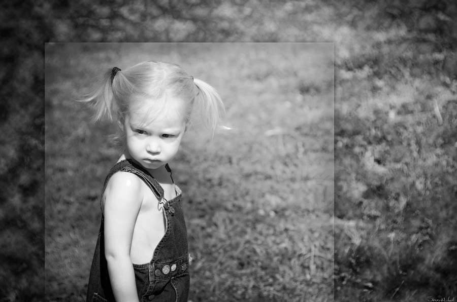 Child Photograph - The Glare by Steven Michael