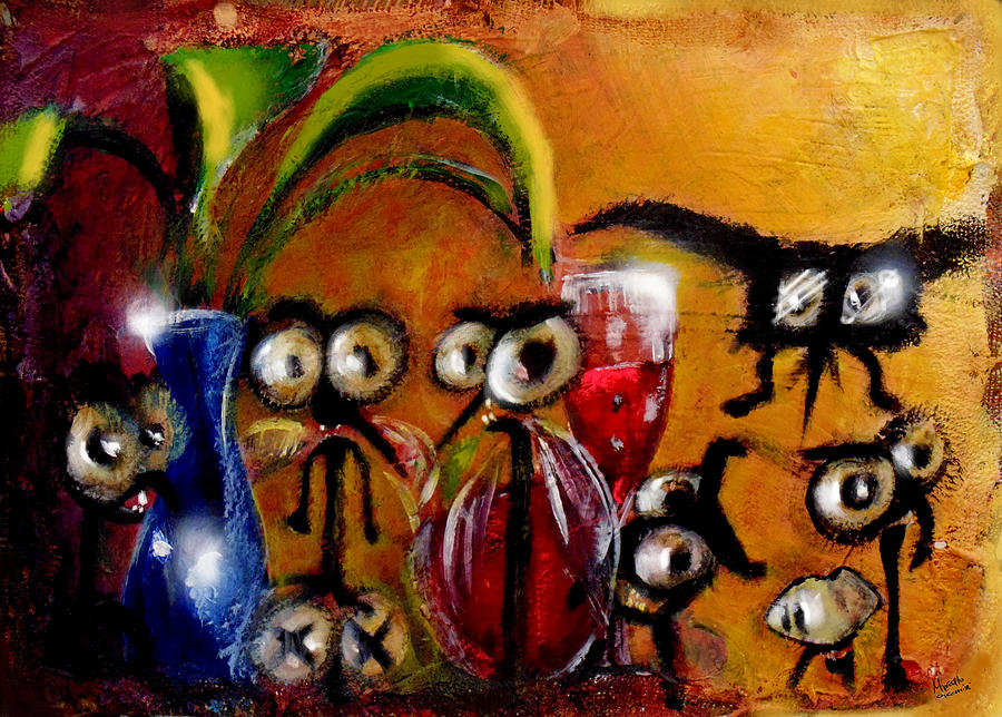 Abstract Painting - The Glass Suckers by Marcello Cicchini