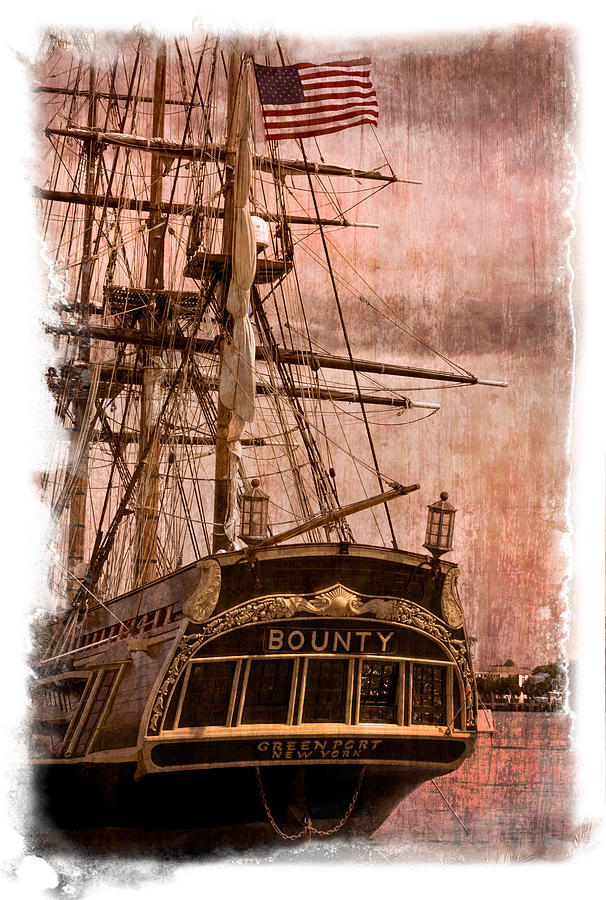 American Photograph - The Gleaming Hull Of The Hms Bounty by Debra and Dave Vanderlaan