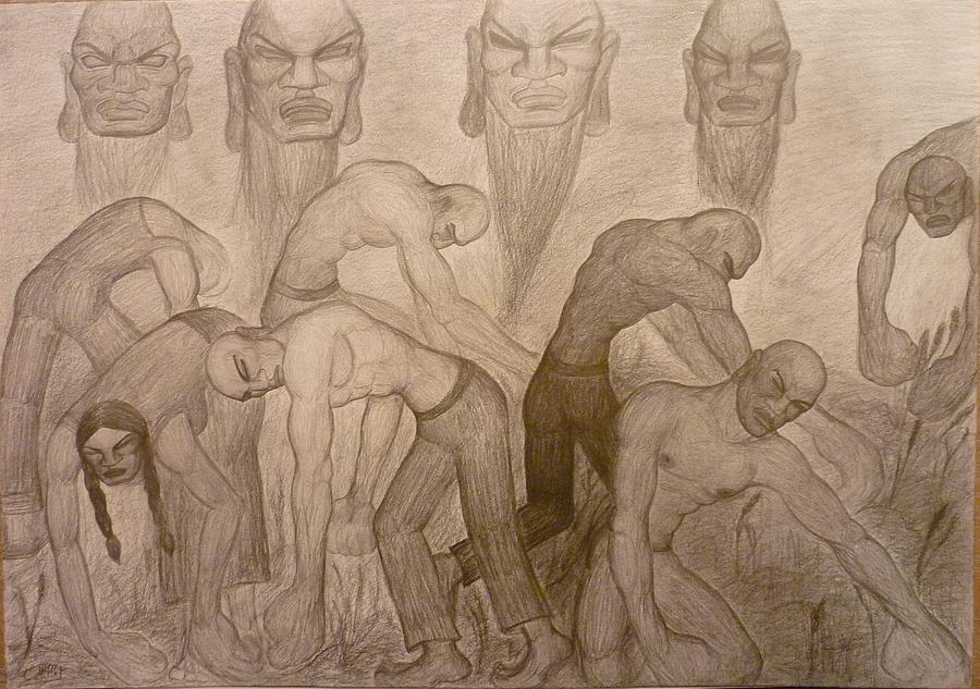 Gleaners Drawing - The Gleaners / Remember When This Earth Was Yours by Cindy MILLET
