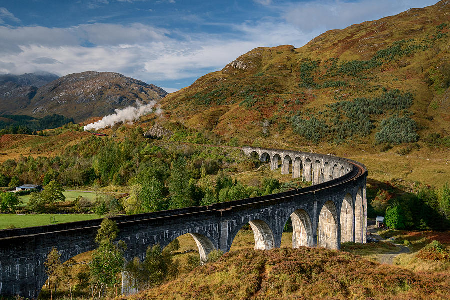 The Glenfinnan Viaduct, Glenfinnan Photograph by Carrigphotos