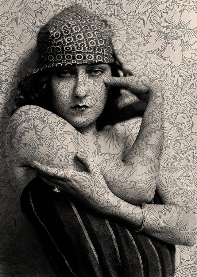 the gloria swanson tattoo digital art by sarah vernon. Black Bedroom Furniture Sets. Home Design Ideas
