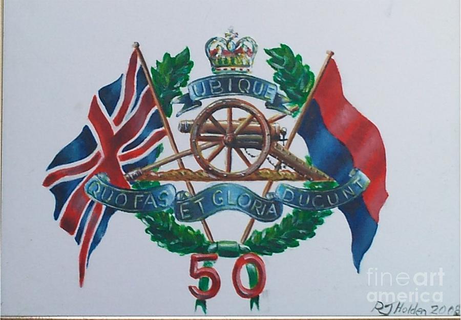 Royal Artillery Painting - The Glorious 50 by Richard John Holden RA