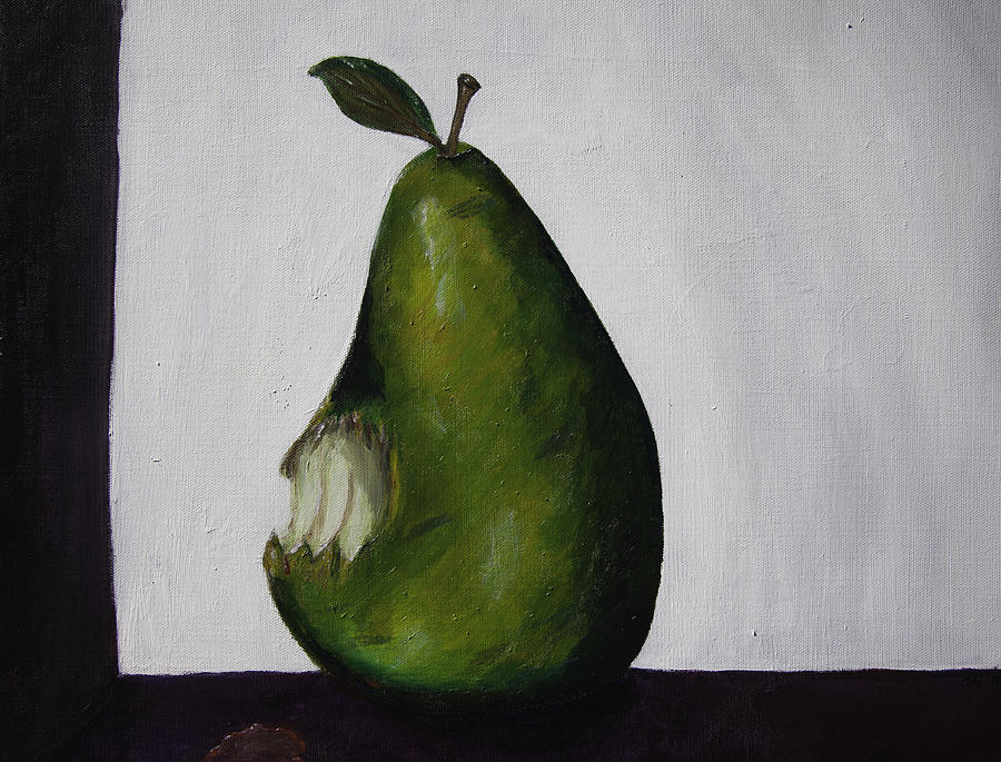 Pear Painting - The Gmo Pear by Alicia Lockwood