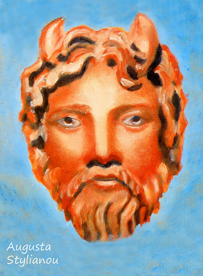 The God Jupiter Or Zeus. Painting by Augusta Stylianou