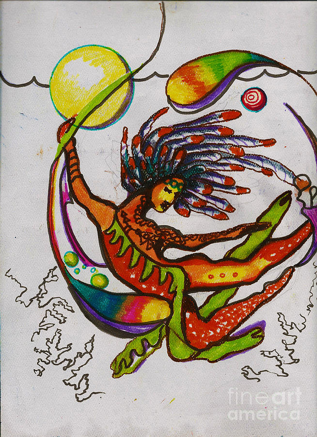 Kundalini Painting - The Goddess Of Elements by Donna Chaasadah