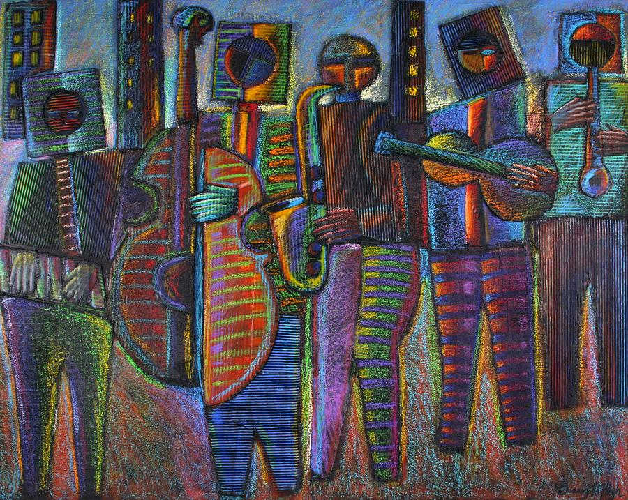 Mixed Media Painting - The Gods Of Music Come To New York by Gerry High