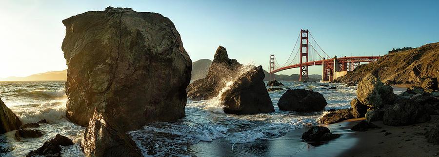 Landscape Photograph - The Golden Gate Bridge by Michael Kaupp