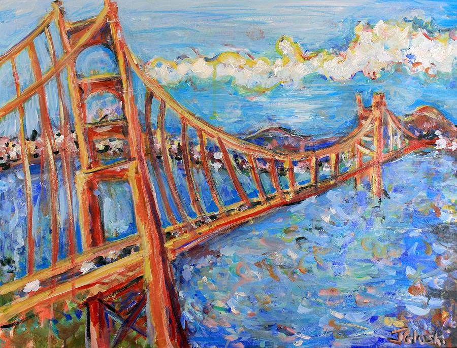 Golden Gate Bridge Painting - The Golden Gate by Jason Gluskin