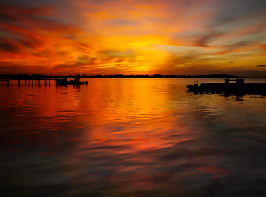 Golden Sunsets Photograph - The Golden Hour by Karen Wiles