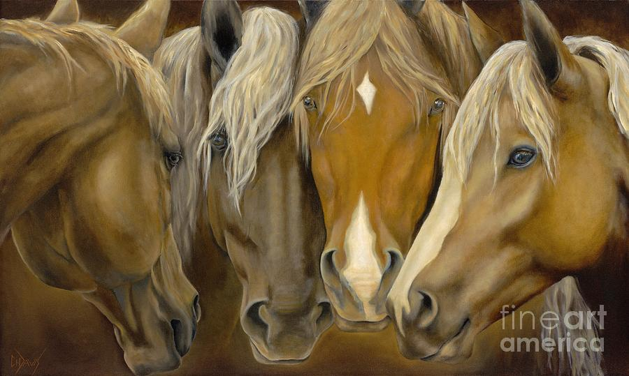 Horse Painting - The Good Life by Catherine Davis