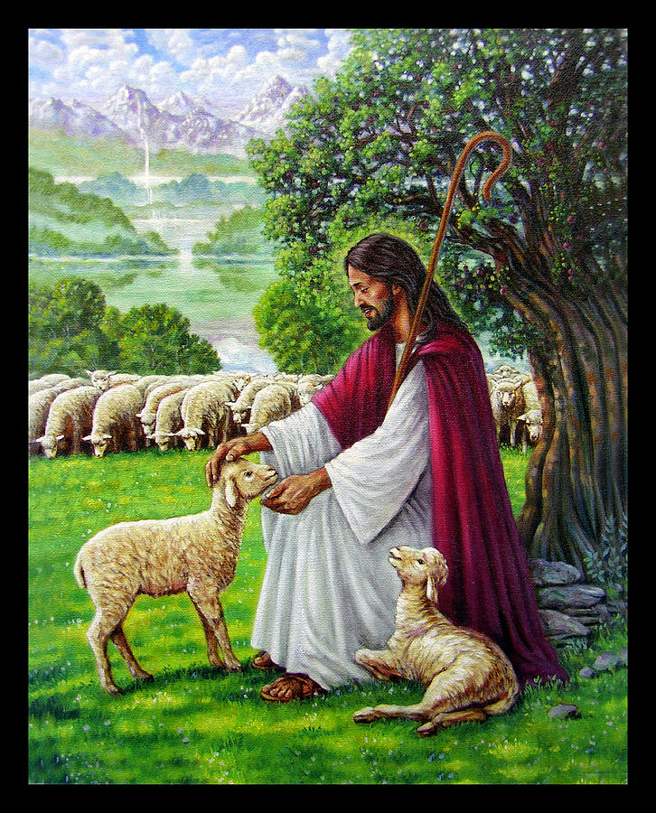 The Good Shepherd Painting by John Lautermilch