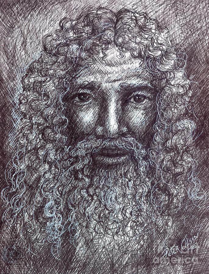 Portrait Painting - The Good Shepherd by Peter Olsen