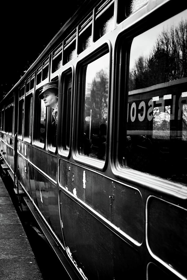 Train Photograph - The Goodbye Girl ....leaving by Richard Bland