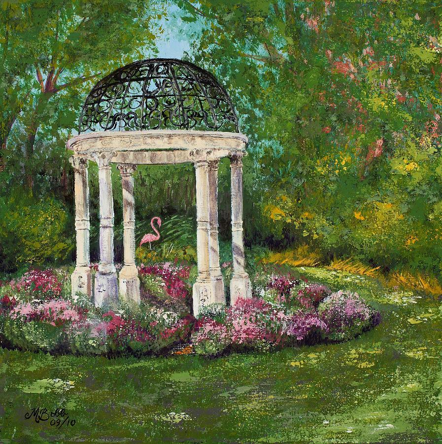 Garden Painting - The Governors Gazebo by Margaret Bobb