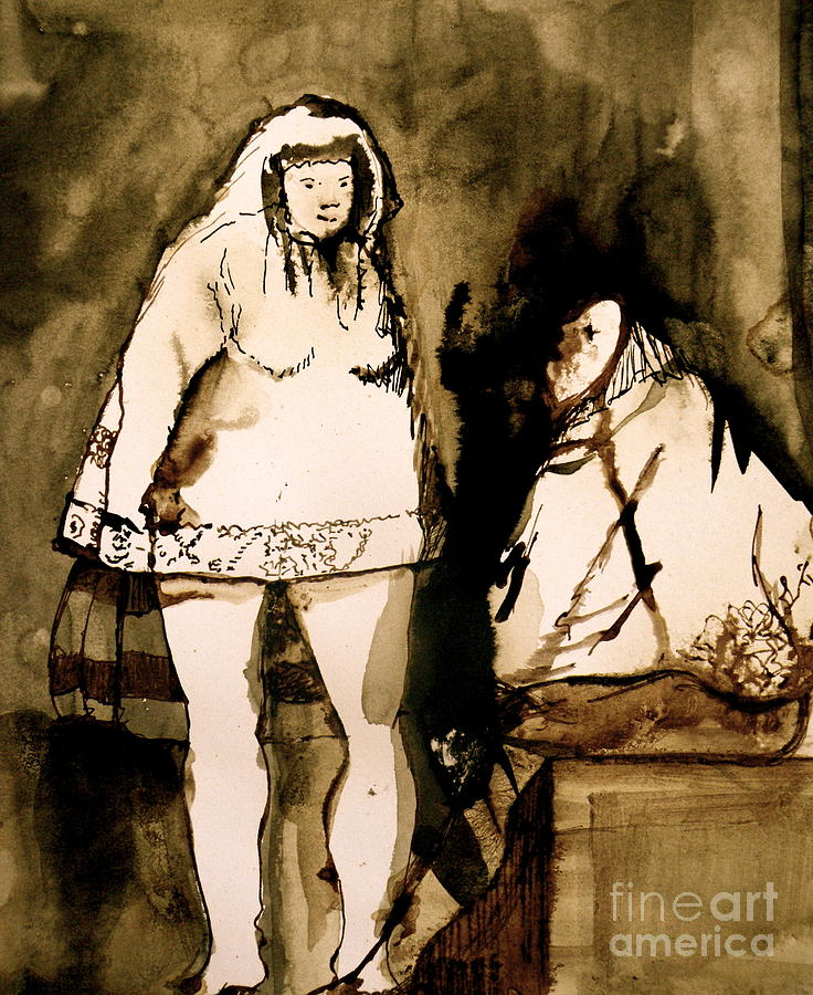 Goya Drawing - The Goya Sisters by Jain McKay