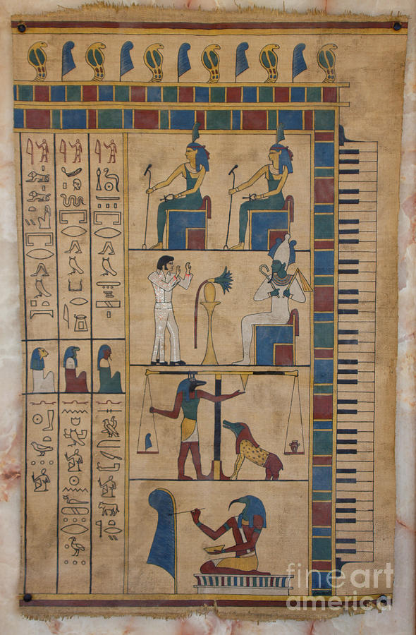 Egypt Painting - The Graceland Papyrus by Richard Deurer