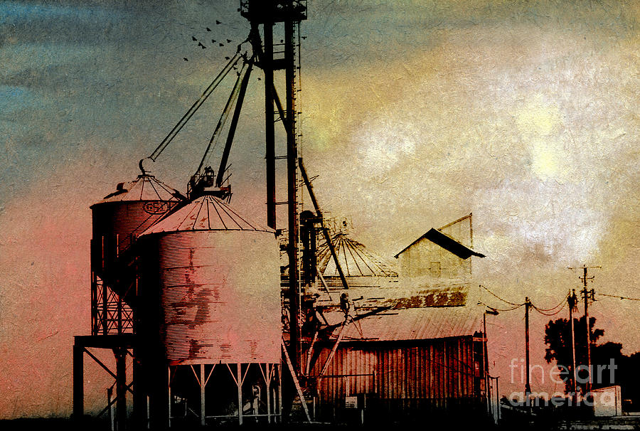 The Granary Painting by R Kyllo