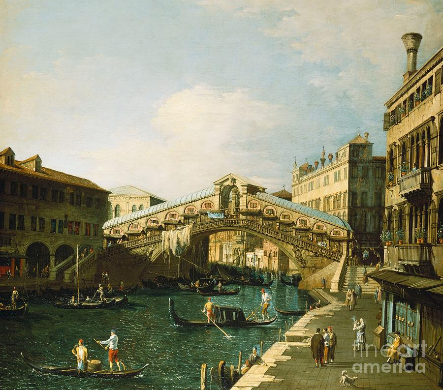 Canaletto Painting - The Grand Canal   Venice by Canaletto