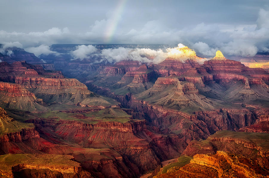 Rainbow Photograph - The Grand Canyon After The Storm by Mountain Dreams