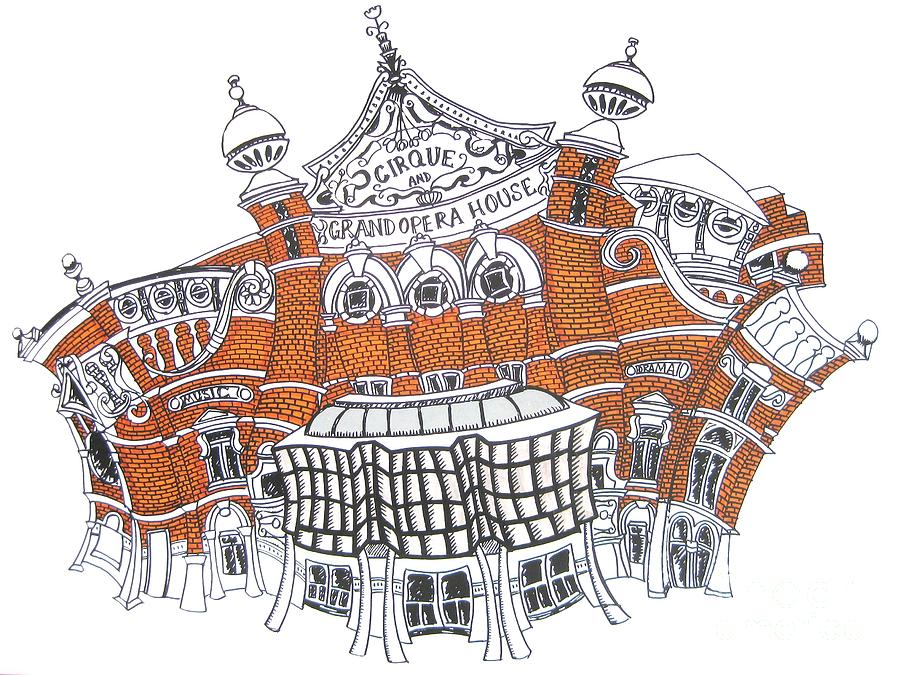 Grand Drawing - The Grand Opera House Belfast by Tanya Mai Johnston
