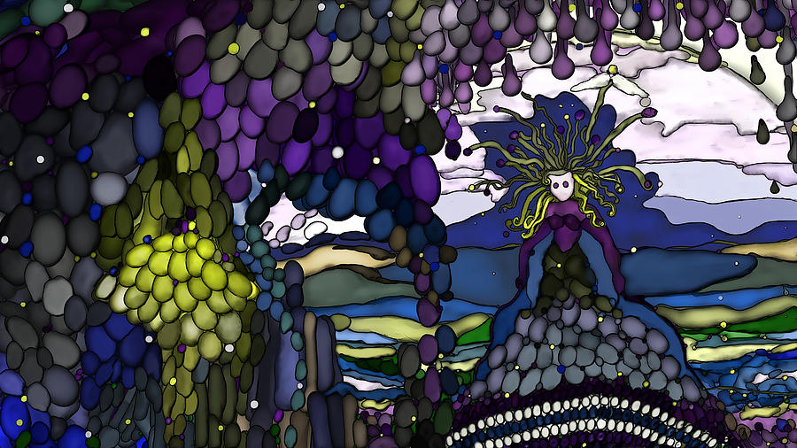 grape Arbor Digital Art - The Grape Arbor Medusa by Constance Krejci